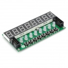 8X Seven Segments Display + 8X Key + 8X Double Color LED Module for Arduino