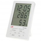 "4.5"" LCD Thermometer/Humidity Meter - White (1 x AAA)"
