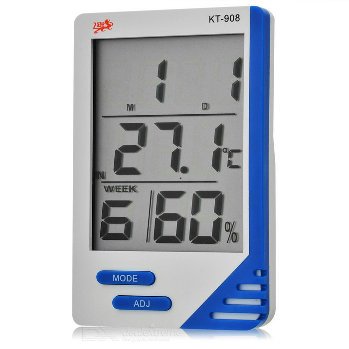 2.9 LCD Digital Indoor/Outdoor Thermometer/Humidity Meter - White (1 x AAA) indoor air quality pm2 5 monitor meter temperature rh humidity