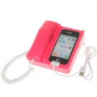 Unique Telephone Landline with 3.5MM Audio Jack for iPhone - Pink