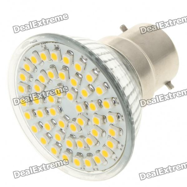 B22 3W 3500K 195-Lumen 48-SMD LED Warm White Light Bulb (AC 85~265V)