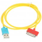 USB Charging/Data Cable for iPhone 4/iPad 2 - Yellow (90CM-Length)