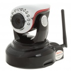720P CMOS 1MP WiFi Wireless Network Surveillance IP Camera w/ 10-LED Night Vision/Microphone/SD Slot