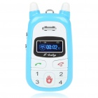A88 1.0&quot; TFT Single SIM Dual Band Location Track GSM Cell Phone for Kids - Blue