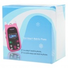 "A88 1.0"" TFT Single SIM Dual Band Location Track GSM Cell Phone for Kids - Blue"