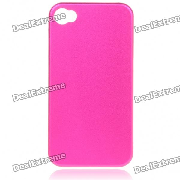 Stylish Protective Aluminum Alloy Back Case for Iphone 4 - Cherry Red