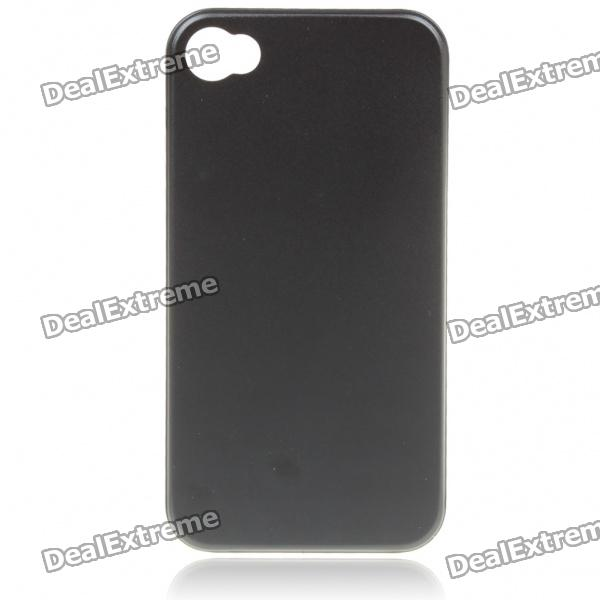 Stylish Protective Aluminum Alloy Back Case for Iphone 4 - Black