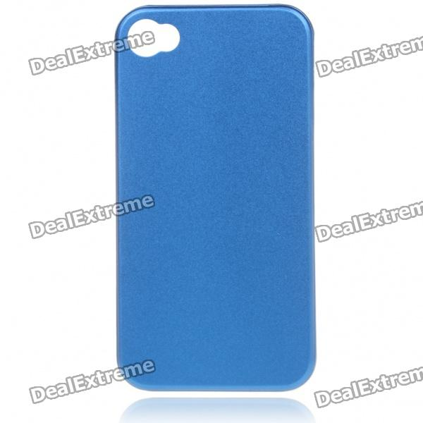 Stylish Protective Aluminum Alloy Back Case for Iphone 4 - Blue