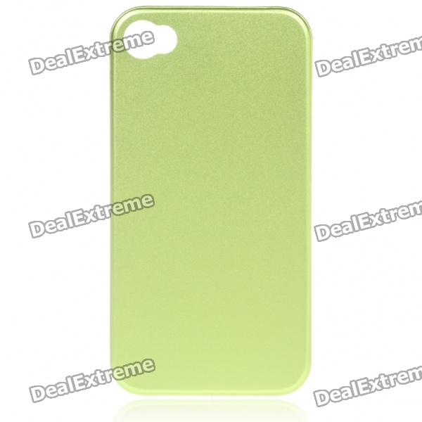 Stylish Protective Aluminum Alloy Back Case for Iphone 4 - Green neomemos stylish heart pattern protective aluminum alloy back case for iphone 4s 4 blue silver