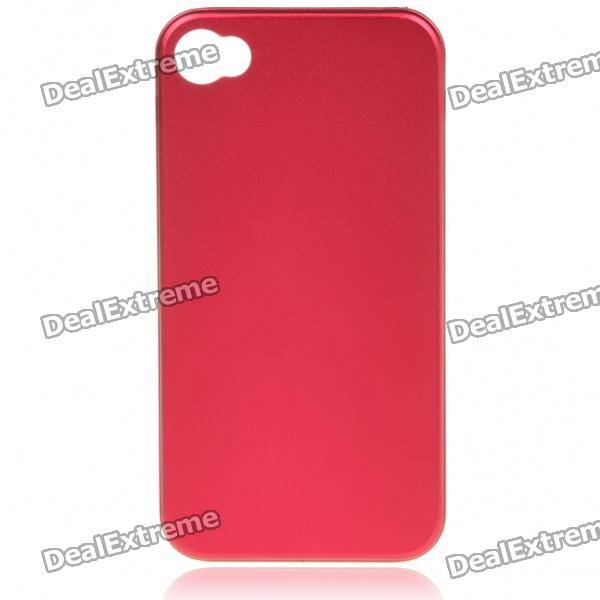 Stylish Protective Aluminum Alloy Back Case for Iphone 4 - Red