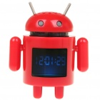 "1.5"" LCD Android Robot Style USB Rechargeable MP3 Player Speaker w/ TF Slot - Red"