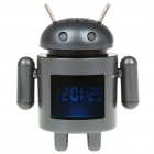"1.5"" LCD Android Robot Style USB Rechargeable MP3 Player Speaker w/ TF Slot - Black"