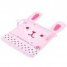 Cute Rabbit Shaped Carrying/Collecting Bag - Pink
