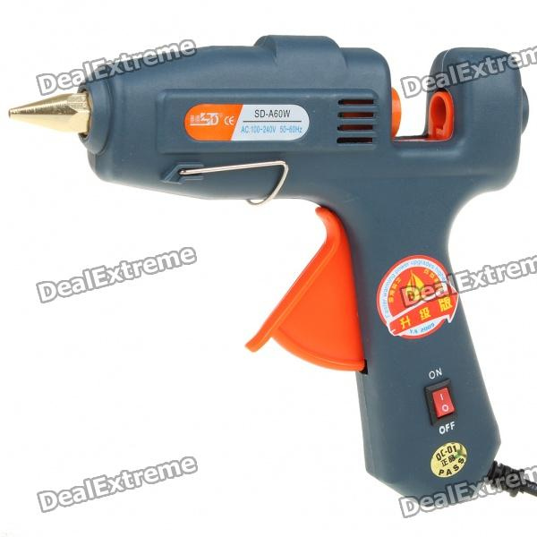 60W Hot Melt Glue Gun (110V~240V) 1pcs serial ata sata 4 pin ide to 2 of 15 hdd power adapter cable hot worldwide