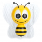 Bee Style Home Decoration Colorful Light Night Lamp (AC 180~240V/2-Round-Pin Plug)