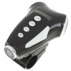 3MP Bicycle Video Recorder/Camcorder MP3 Player Speaker w/ 10-LED Night Vision/TV-Out/TF - Black