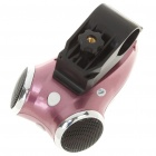 3MP Bicycle Video Recorder/Camcorder MP3 Player Speaker w/ 10-LED Night Vision/TV-Out/TF - Purple