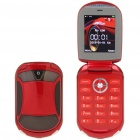 """Car Style 2"""" LCD Dual SIM Dual Network Standby Quadband GSM TV Cell Phone w/ Java - Red"""