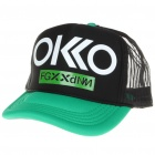 Stylish Casual Cap/Hat - Black + Green + White