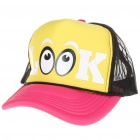 Stylish Casual Cap/Hat - Pink + Yellow + White