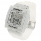 "Fashion 1"" LCD Multicolored Display Digital Wrist Watch w/ Date/Alarm/Stopwatch - White (1 x CR2025)"