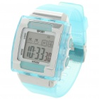 "Fashion 1"" LCD Multicolored Display Digital Wrist Watch w/ Date/Alarm/Stopwatch - Blue (1 x CR2025)"