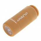 Mini USB Rechargeable 20-Lumen LED Flashlight w/ TF Card Reader - Coffee