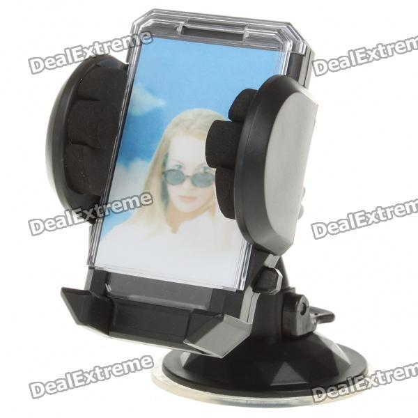Universal Car Windshield Swivel Mount Holder for Cell Phone/MP3/MP4/GPS - Black concept car universal windshield mount holder for iphone samsung cellphone black