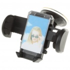 Universal Car Windshield Swivel Mount Holder for Cell Phone/MP3/MP4/GPS - Black