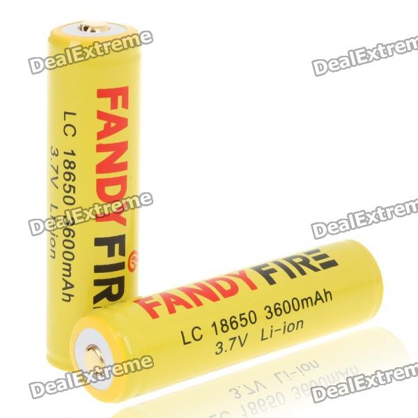 Protected 18650 Rechargeable 3600mAh Li-ion Batteries - Yellow (Pair) летняя шина кама 217 175 70 r13 82h