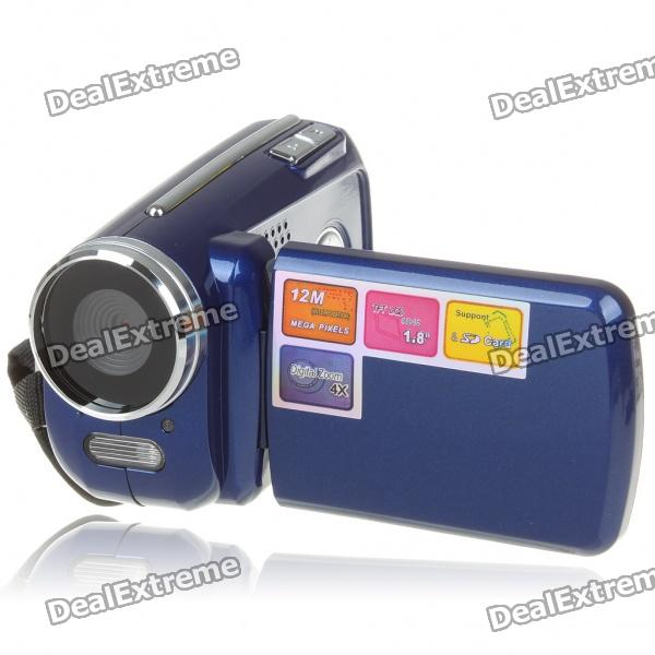 1.3MP CMOS Digital Video Camcorder w/ 4X Digital Zoom/AV-Out/SD - Blue (3 x AAA / 1.8 TFT LCD) 5 0mp digital video camcorder w 4x digital zoom motion detection hdmi sd slot 2 5 tft lcd