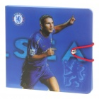Chelsea Football Club Style Portable Plastic CD Storage Bag Box - Blue (Holds 12-CD)