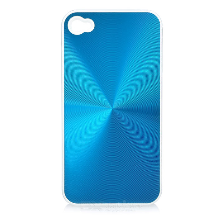 Stylish Protective Back Case for Iphone 4 - Blue + White stylish bubble pattern protective silicone abs back case front frame case for iphone 4 4s