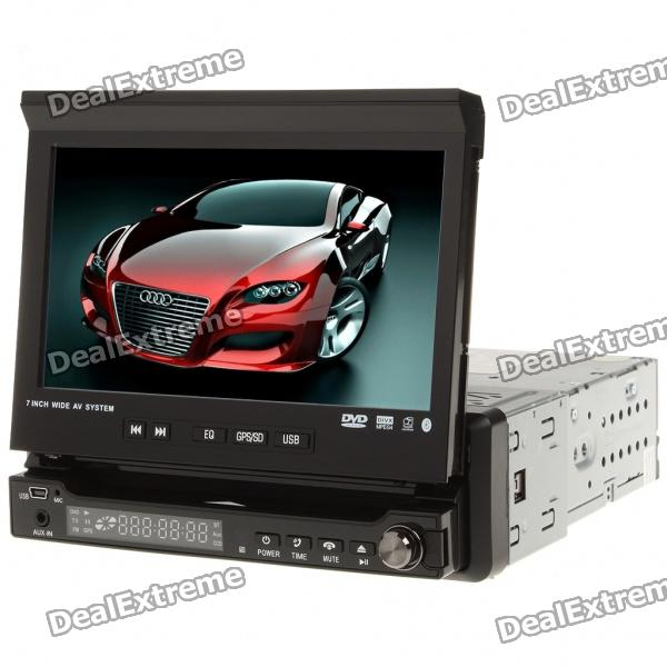 "7"" Touch Screen Car DVD Media Player w/ Bluetooth/FM/TV/USB/SD"