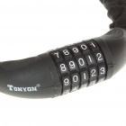 TONYON 5-Digit Bicycle Security Lock Chain - Black