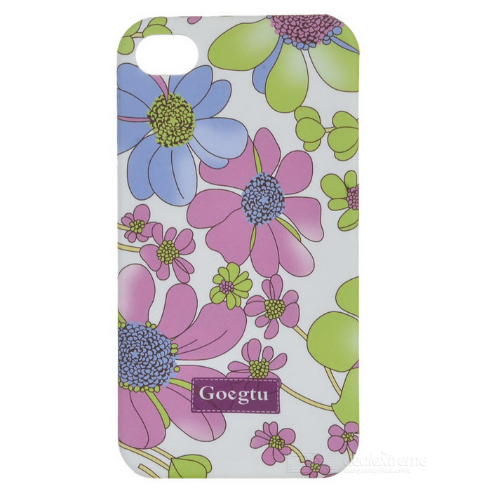Lacquered Shell Goegtu Orchid Style Protective ABS Back Case for Iphone 4