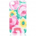 Lacquered Shell Goegtu Rose Style Protective ABS Back Case for Iphone 4