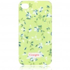 Lacquered Shell Goegtu Flower Style Protective ABS Back Case for Iphone 4 - Spring