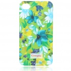 Lacquered Shell Goegtu Flower Style Protective ABS Back Case for Iphone 4 - Summer