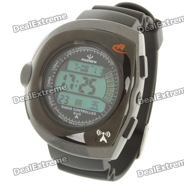 Pasnew Radio Controlled Wrist Watch - Black (1 x CR2032) Hollywood The prices of things