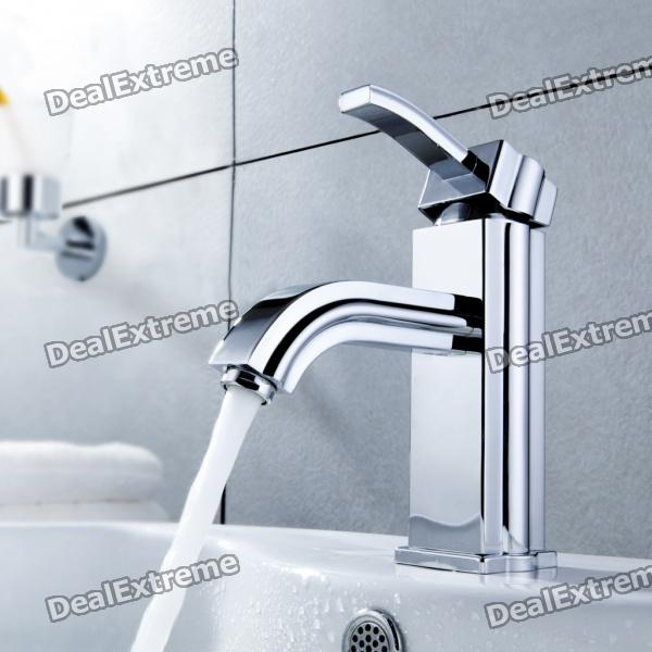 Stylish Brass Bathroom Faucet (Silver) frap new bathroom combination basin faucet shower tap single handle cold and hot water mixer with slide bar torneira f2823