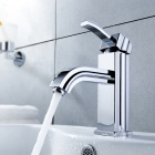Stylish Brass Bathroom Faucet (Silver)