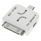 Mini/Micro USB Adapter for iPad/iPhone - White