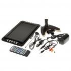 "Portable 9"" LCD Television w/ Analog TV Signals Receiver/SD - Black (12V)"