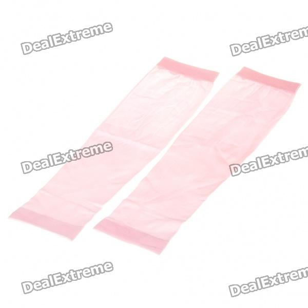 Outdoor Sports Sun Protection Arm Sleeves Cover - Pink (Pair)