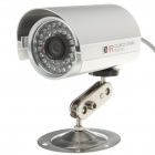 1/4 CCD Wired Surveillance Security Waterproof Camera w/ 36-IR LED Night Vision - Silver
