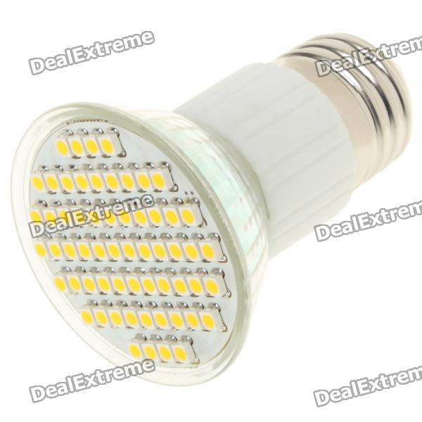 E27 4.5W 3500K 240-Lumen 60-SMD LED Warm White Light Bulb (85~265V) e27 2w 100 lumen 3000k 30x3528 smd led warm white light lamp bulb 110v