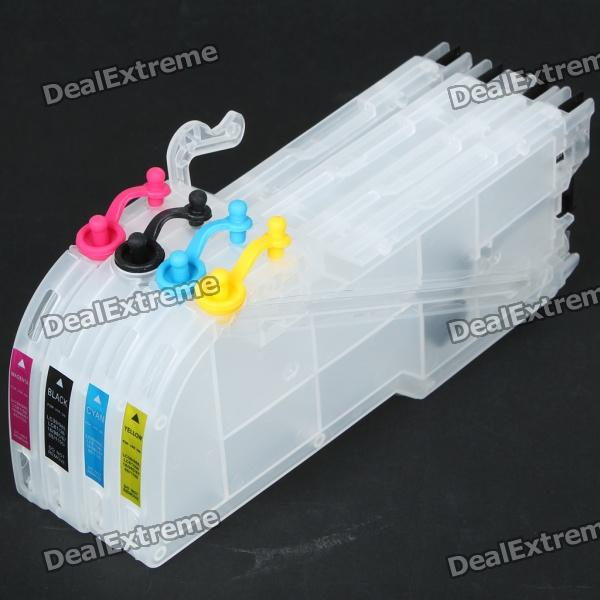 Refillable Color Ink Jet Cartridge for Brother Printers DCP-J125/MFC-J265W (100ml) reset chip lc663 lc665 lc667 lc669 chip resetter for brother mfc j2320 mfc j2720 printers ink cartridges