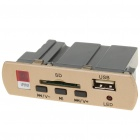 MP3 Hardware Decoder w/ Remote Controller/USB/SD Slot - Golden + Black (3.75V)