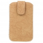 Protective PU Leather Case Pouch for HTC Desire HD - Brown